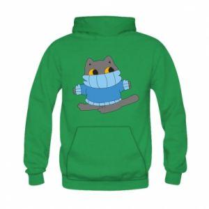 Bluza z kapturem dziecięca Cat in a sweater