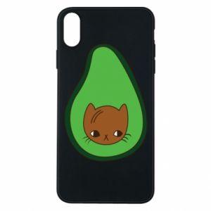 Etui na iPhone Xs Max Cat in avocado