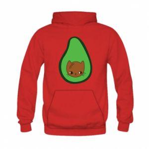 Bluza z kapturem dziecięca Cat in avocado