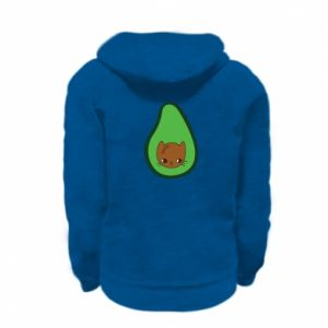 Bluza na zamek dziecięca Cat in avocado