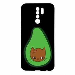 Etui na Xiaomi Redmi 9 Cat in avocado