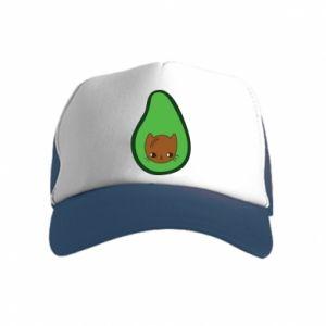 Czapka trucker dziecięca Cat in avocado