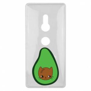 Etui na Sony Xperia XZ2 Cat in avocado