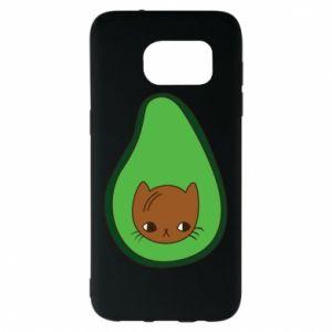 Etui na Samsung S7 EDGE Cat in avocado