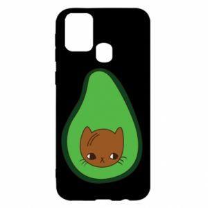 Etui na Samsung M31 Cat in avocado