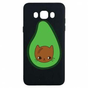 Etui na Samsung J7 2016 Cat in avocado