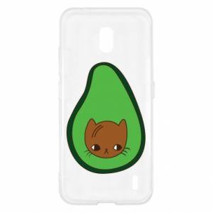 Etui na Nokia 2.2 Cat in avocado