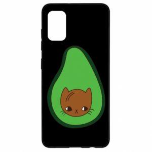 Etui na Samsung A41 Cat in avocado