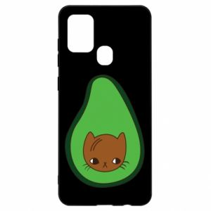 Etui na Samsung A21s Cat in avocado