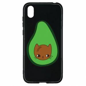 Etui na Huawei Y5 2019 Cat in avocado
