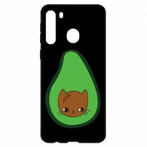 Etui na Samsung A21 Cat in avocado