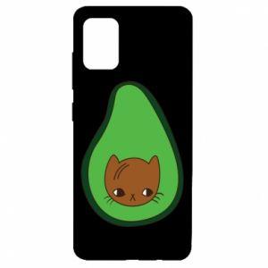 Etui na Samsung A51 Cat in avocado