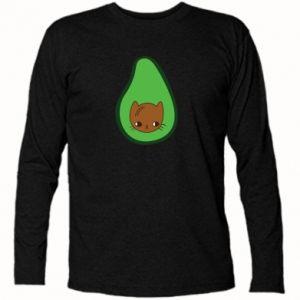 Koszulka z długim rękawem Cat in avocado