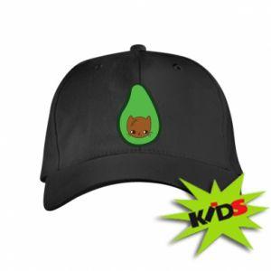 Czapeczka z daszkiem dziecięca Cat in avocado