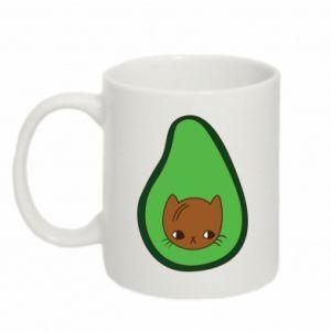 Kubek 330ml Cat in avocado