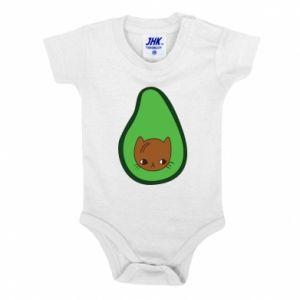 Body dziecięce Cat in avocado