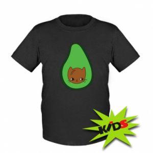 Dziecięcy T-shirt Cat in avocado