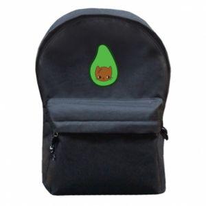 Plecak z przednią kieszenią Cat in avocado