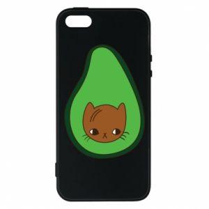 Etui na iPhone 5/5S/SE Cat in avocado