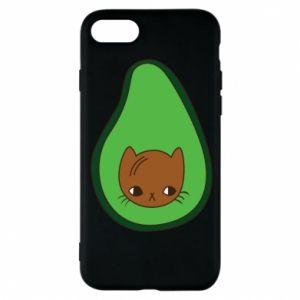 Etui na iPhone 8 Cat in avocado