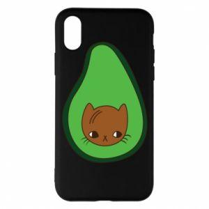 Etui na iPhone X/Xs Cat in avocado