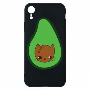 Etui na iPhone XR Cat in avocado