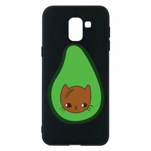 Etui na Samsung J6 Cat in avocado