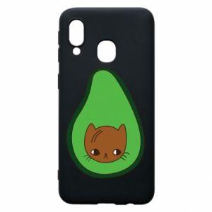 Etui na Samsung A40 Cat in avocado