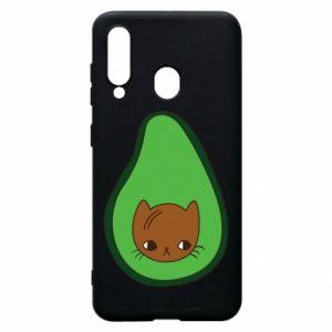 Etui na Samsung A60 Cat in avocado