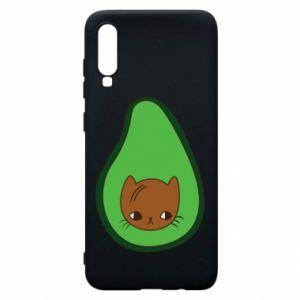 Etui na Samsung A70 Cat in avocado
