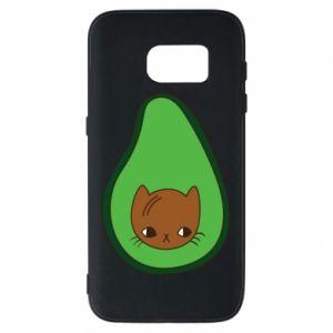 Etui na Samsung S7 Cat in avocado