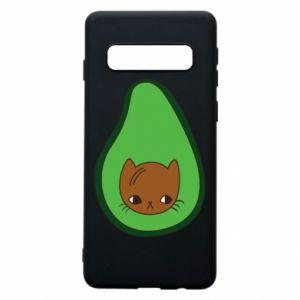 Etui na Samsung S10 Cat in avocado