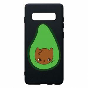 Etui na Samsung S10+ Cat in avocado