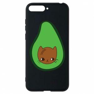 Etui na Huawei Y6 2018 Cat in avocado