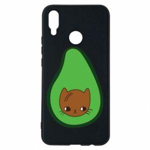 Etui na Huawei P Smart Plus Cat in avocado