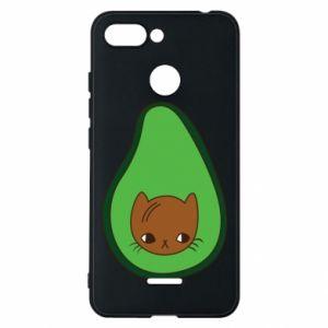 Etui na Xiaomi Redmi 6 Cat in avocado