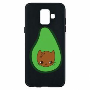 Etui na Samsung A6 2018 Cat in avocado