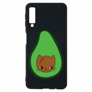 Etui na Samsung A7 2018 Cat in avocado