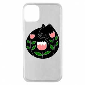Etui na iPhone 11 Pro Cat in flowers