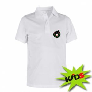 Children's Polo shirts Cat in flowers - PrintSalon
