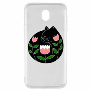 Etui na Samsung J7 2017 Cat in flowers