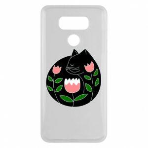 Etui na LG G6 Cat in flowers