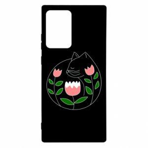 Etui na Samsung Note 20 Ultra Cat in flowers