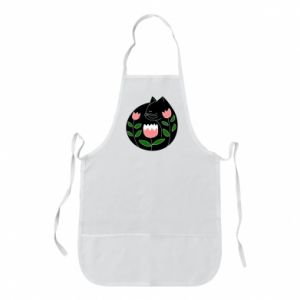 Apron Cat in flowers - PrintSalon