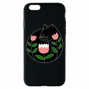 Etui na iPhone 6/6S Cat in flowers