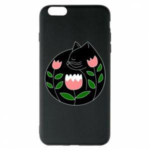 Etui na iPhone 6 Plus/6S Plus Cat in flowers