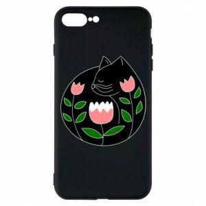 Etui na iPhone 7 Plus Cat in flowers