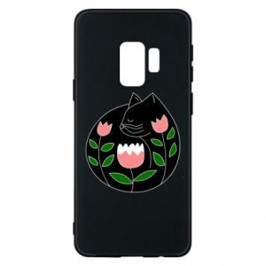 Etui na Samsung S9 Cat in flowers
