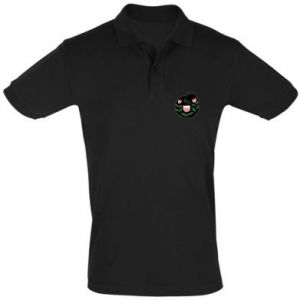 Men's Polo shirt Cat in flowers - PrintSalon