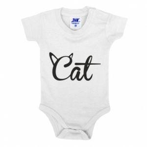 Body dla dzieci Cat inscription with ears